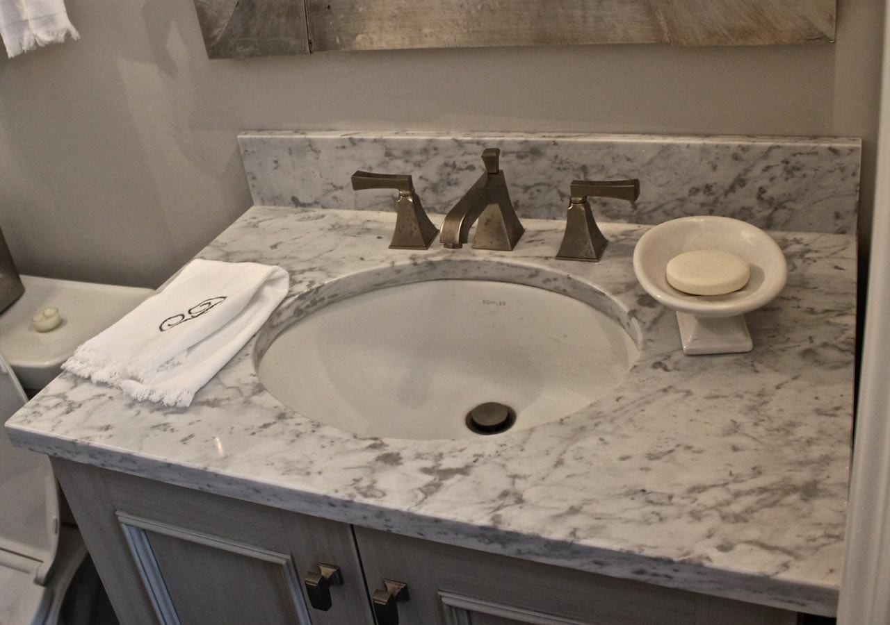 Marble Bathroom Sink - Carr Stone & Tile
