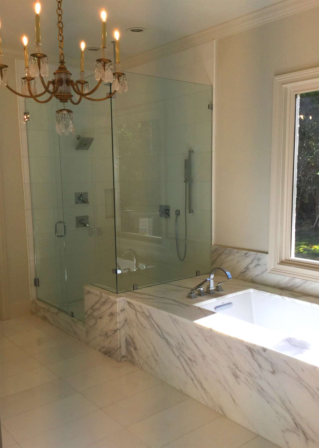 Bath Marble marble bathroom - new orleans stone and tile