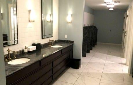 Men's Restroom Black Granite