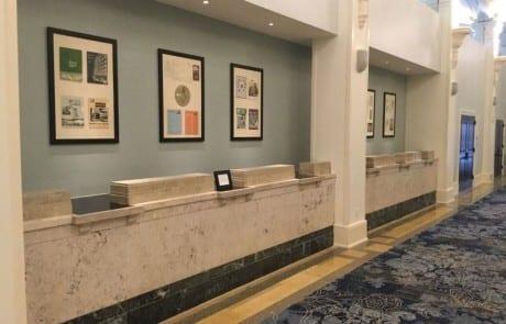 marble reception desk