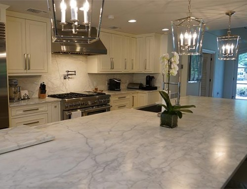 Marble and Stainless Steel Kitchen