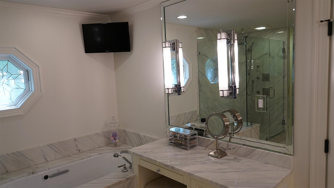 Marble Shower and Vanity