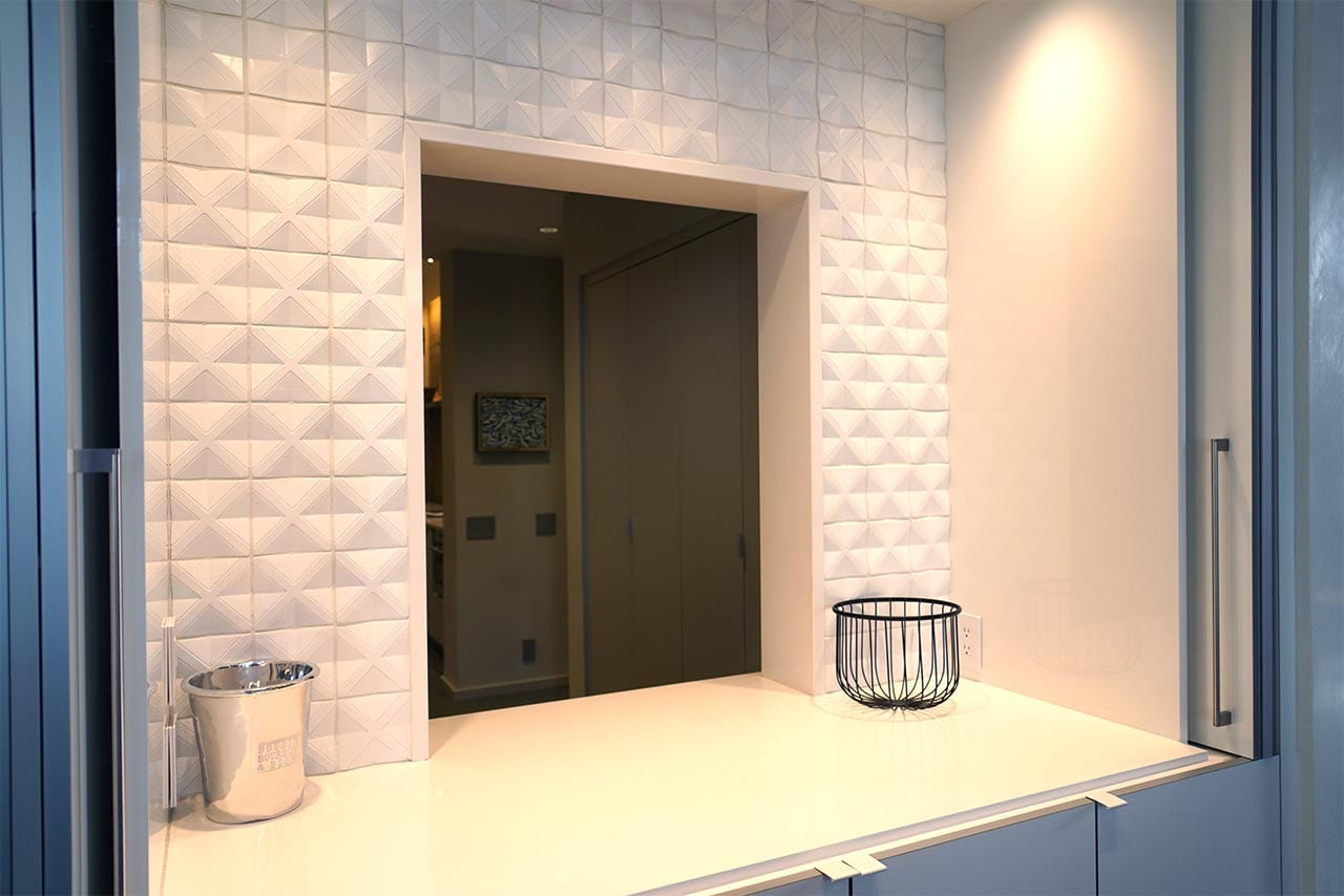 Wall Tile and Stone counter top
