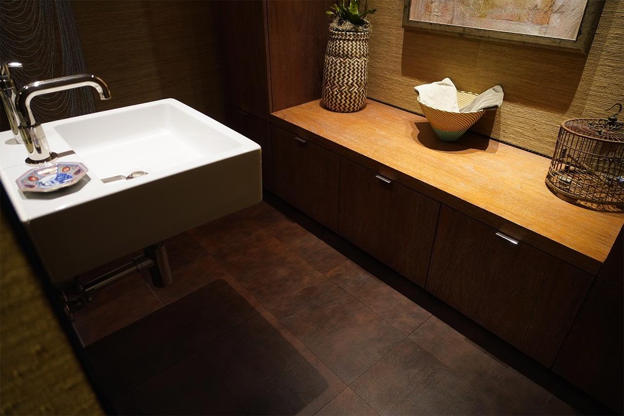 Stone Tile Bathroom Floor