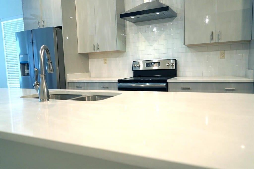White Stone countertop