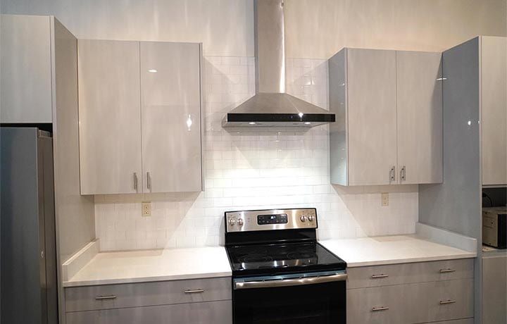 White Tile Kitchen