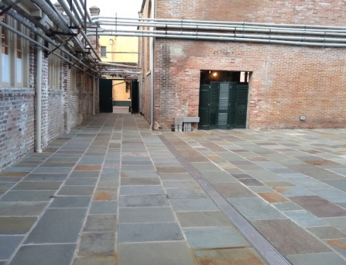 Carr Stone & Tile: Slate Courtyard At The New Orleans Athletic Club